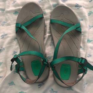Teva Seafoam and Gray Adjustable Strap Sandals